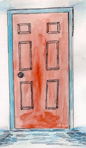 A door - A picture of a door
