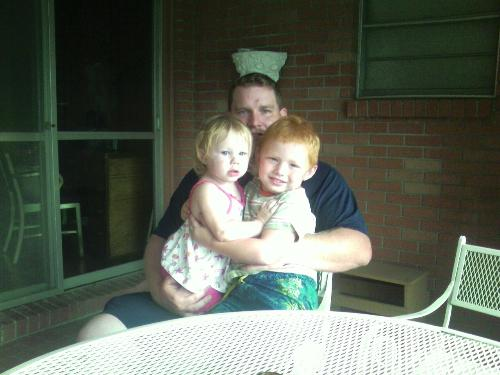 Levi is the little red-head - my children and husband