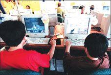 children at cyber cafe - children at cyber cafe...is it safe?