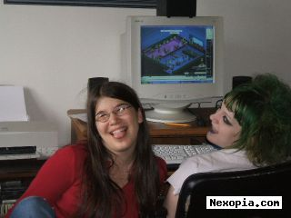 Friend and myself - Myself with the green hair, my friend with out the green hair.
