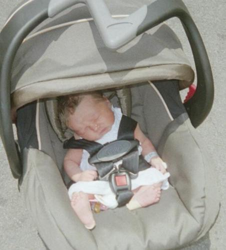 Asa's Carseat - Asa 3 days old in her brand new carseat!