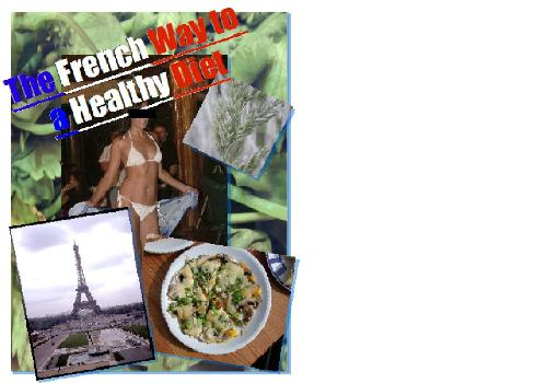 E-book cover - This is the cover of the E-book: The French way to diet