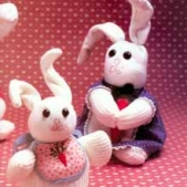 Sock Bunnies - Sock Bunnies, just in time for Easter.