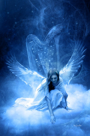 Angels - Mystical Angel. I LOVE this kind of picture.