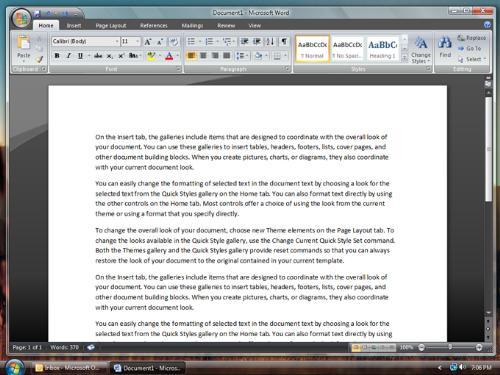 Microsoft Office 2007 - Screen Shot