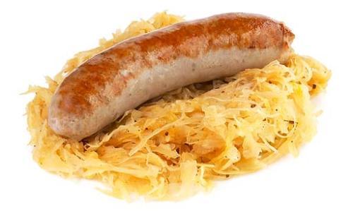 sauerkraut and sausage - sauerkraut and sausage a yummy treat