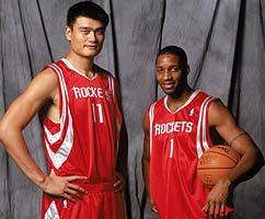Yao and his teammate T-MAC - Yao Ming and T-MAC