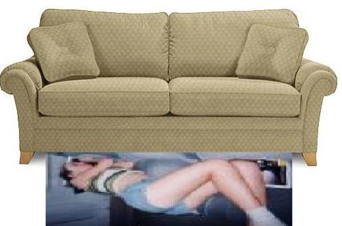 Sofa and floor  - Sleep on sofa or floor