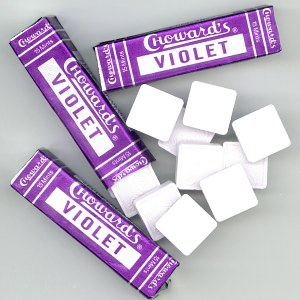 C Howards Violet Mints - Violet flavored mints by C Howards.