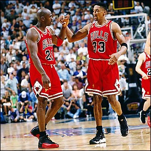Jordan and Pippen - the best one-two punch in the NBA all time