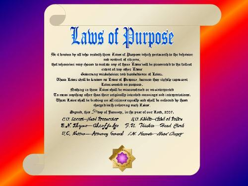 Laws Of Purpose - Graphic representation of Laws of Purpose