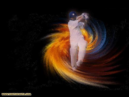cricket - it is a photo of one of the indian team player