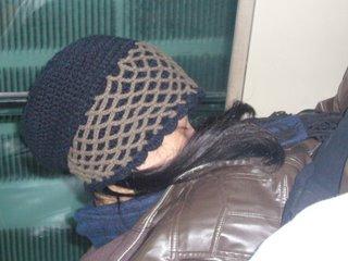 dozing on the bus - dozing on the bus while traveling