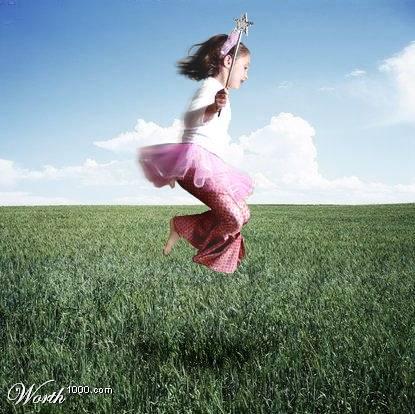 flying girl - Flying girl in pink