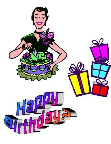 Happy Birthday? - presents, cake, cut the cake.