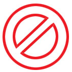 No - The symbol of 'No'