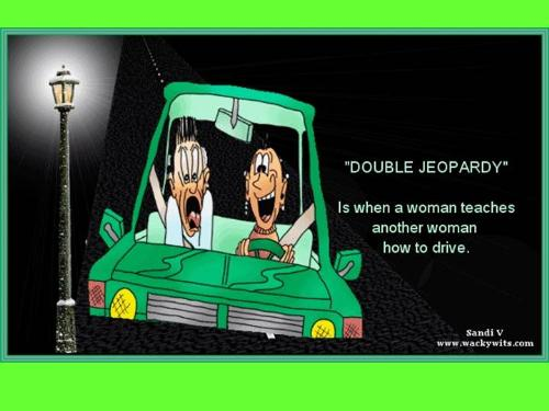 Joke about women drivers - this is a funny cartoon about women drivers