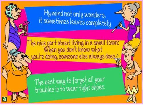 Tight shoes and wandering minds - Cartoons about women, tight shoes, wandering minds and gossip