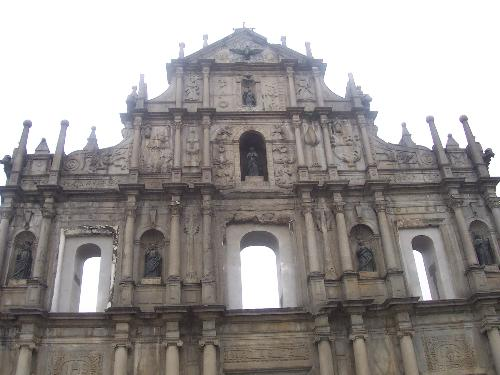 Ruins of St Paul's - ruins of st paul's is considered a landmark in macau. is it said that the church was burned some centuries ago and the facade was the only thing remaining...