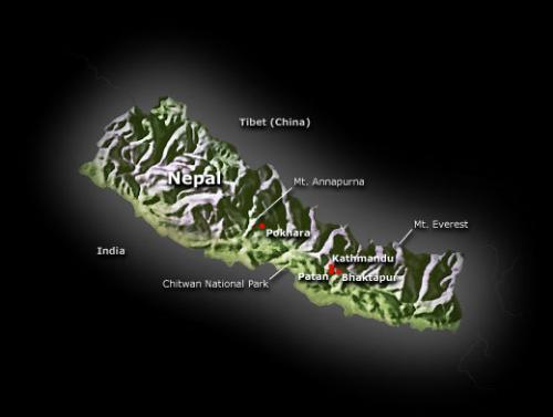 nepal - map of nepal