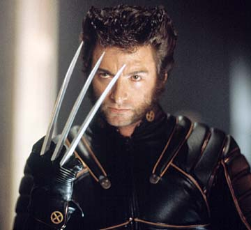 Wolverine - This photo is a shot of Wolverine, a mutant from the X-Men film. Wolverine is a mutant with an incredibly powerful regenerative ability, and retractable claws made of adamantium, and indestructible metal that covers his entire skeleton.