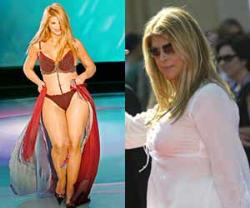 Kirstie Alley  - Bikini Shot and old fat shot of Kirstie Alley