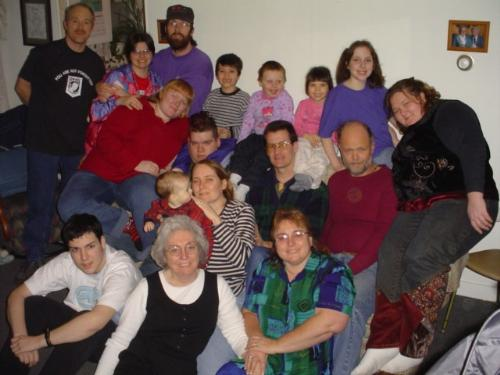 family - My great big goofy family, 4 generations.