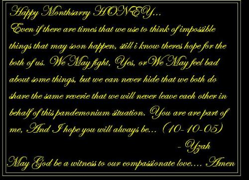 My mothsary letter to him... - Sweet