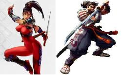 Ninja v.s. Samurai - Taki and Mitsurugi from Soul Calibur game