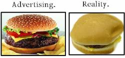 Hamburger Advertisment - The true about McDonalds Advertisments