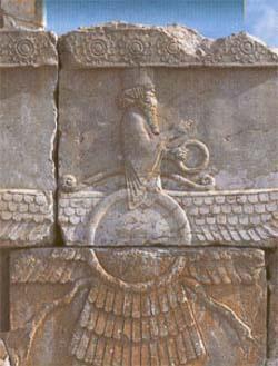 Ahura Mazda - Ahura Mazda relief