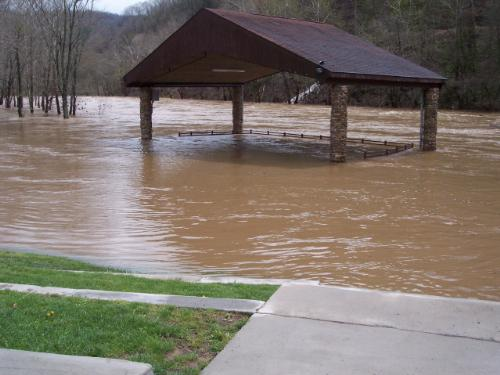 Flooding in West Virginia - When the weather started getting bad and the water started rising, it came up fast.