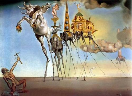 The Temptation of St. Anthony by Salvador Dalí - This is The Temptation of St. Anthony by none other than the famous surrealist, Salvador Dalí.