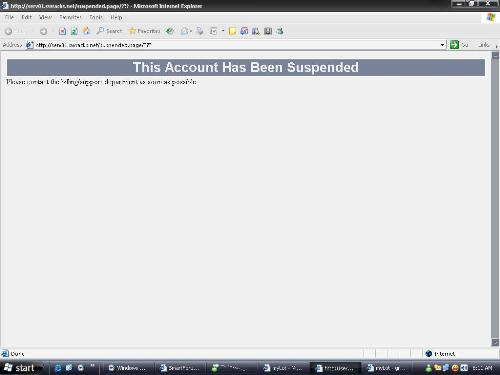 FUMMO.COM Suspended! - See the image, Their hosting account has been suspended!