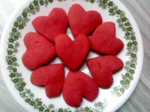 beautiful cookie - lovely heart cookies I baked