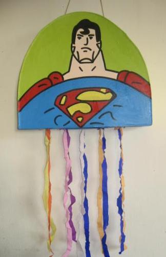 Superman Piñata - Superman Piñata for my son's birthday party