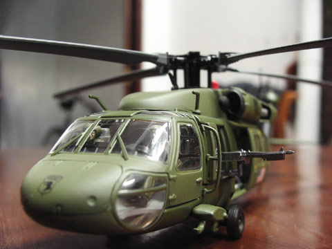 blackhawk die cast model - another shot for promotional, belong to my friend