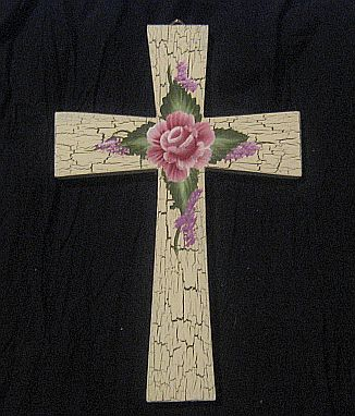 Painted Wall Cross - This is one of the wall crosses I paint and sell.