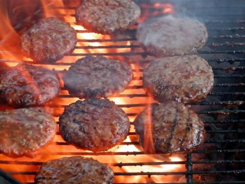 Grilling burgers - Grilling some good burgers on the grill