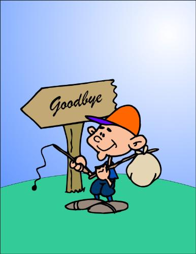 good bye - leaving and saying good bye, cartoons