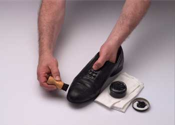 polish your shoes - One should polish his/her shoes regularly