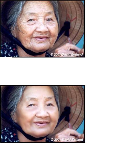 old woman airbrushed - this is an old woman airbrushed to make her look younger how does it look?