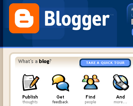 Blogger from Google - The way to blog from Google is by using Blogger.