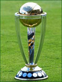 ICC Cricket World Cup 2007 - The World Cup 2007 trophy....