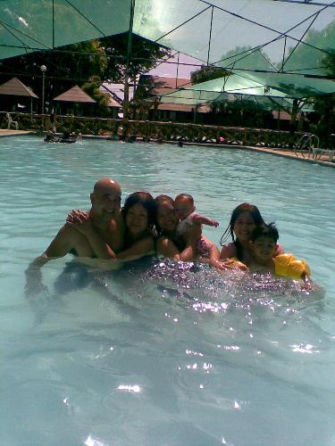 swimming with my family... - I go swimming with my family, It is like heaven, no worries just having fun.