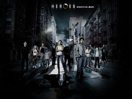 heroes - The cast of heroes in a promo photo