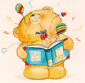 Hooray, it's a happy ending! - Bear opening book.