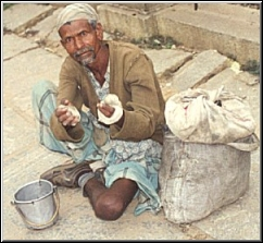 beggar on the street ask you - would mind giving something to those beggars on the streets?