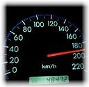Overspeeding - Its a speedometer of a byk showing overspeeding.........