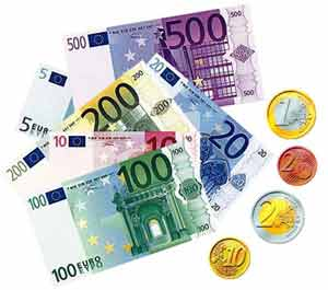 Euro money - In this picture you can see all the Euro money